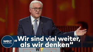 30. JAHRESTAG WIEDERVEREINIGUNG Frank-Walter Steinmeier betont das bereits Erreichte