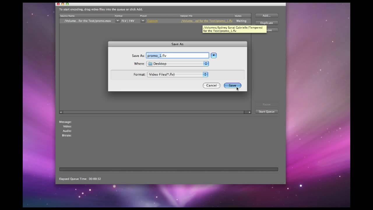 Adobe Flash Media Encoder Crashes Videos