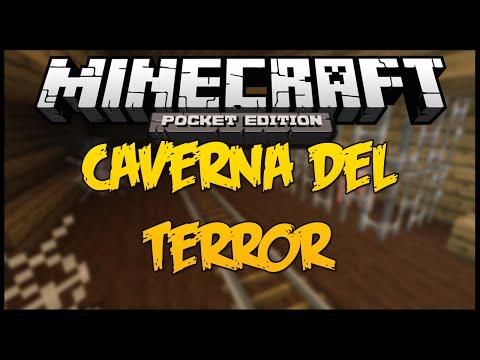 Minecraft PE Montaña Rusa LA CAVERNA DEL TERROR