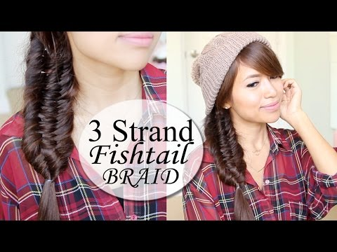 Three (3) Strand Fishtail Braid Hair Tutorial | Hairstyle