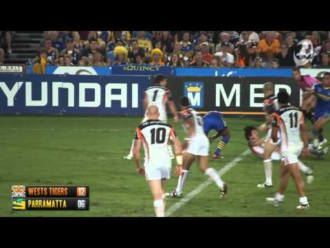 Full Highlights from the first official trial for the Wests Tigers and Parramatta Eels at Bluetongue Stadium, 11th February 2012. These are exclusive highlig...