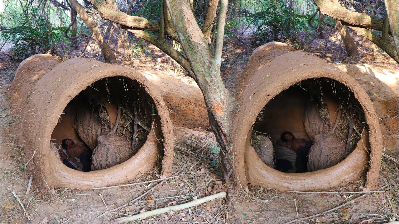Amazing Huts of People Who Live in The Wilderness - በጫካ የሚኖሩ ሰዎች የሚሰሩት የሚገርም የቤት አሰራር ጥበብ
