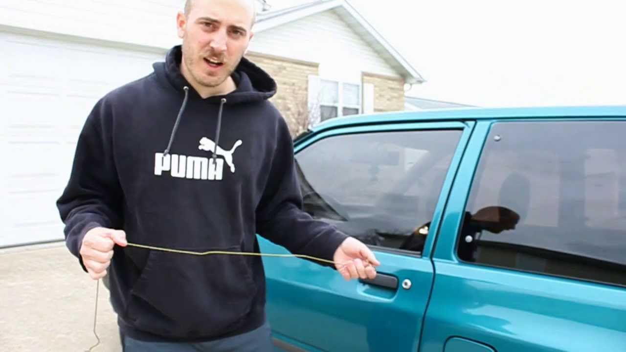 Breaking into a car with a coat hanger