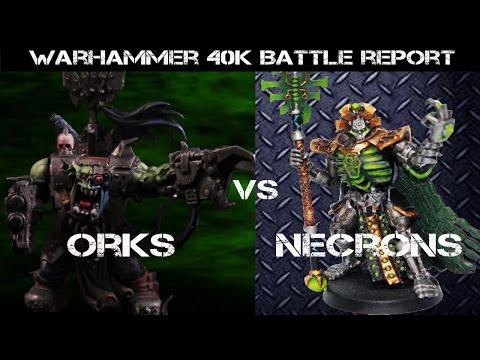 Orks vs Necrons 7th ed. Warhammer 40K Battle Report - Jay Knight BatRep 23