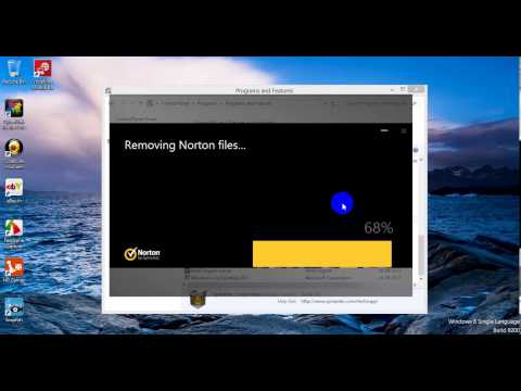 How to remove Norton Security from Windows 8?