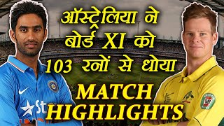 India BPXI vs Australia Match HIGHLIGHTS: Australia won by 103 runs | वनइंडिया हिंदी