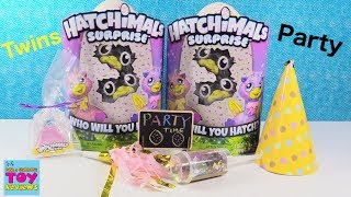 Hatchimals Surprise NEW Twin Babies Hatch Day Reveal Party Surprise Egg | PSToyReviews