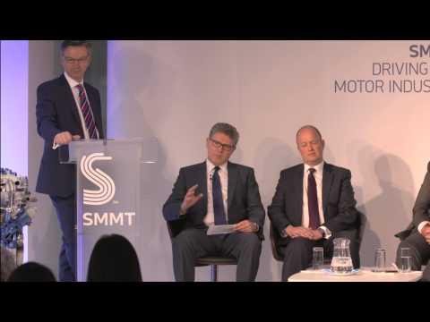 Graeme Grieve, BMW Group UK, talking about diesel with SMMT