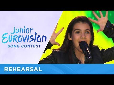 Fiamma Boccia - Cara Mamma - Dear Mom - Italy (Rehearsal) Junior Eurovision 2016