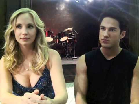 Zap2it On the Set of 'The Vampire Diaries' with Candice Accola and Michael Trevino