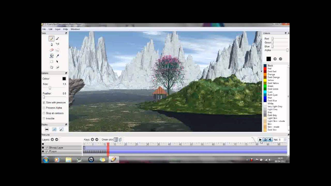 Pencil Animation Quick Demo Free 2d Animation Software