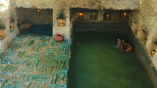 Build Fantastic Underground Well's House With Awesome Swimming Pool