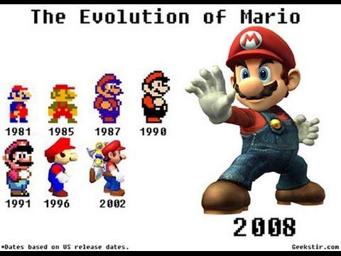 Evolution des jeux Mario (de Donkey Kong à 3D World)