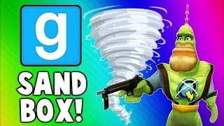 Gmod Sandbox Funny Moments TORNADO Edition - House Destruction & Skit Fails (Garry