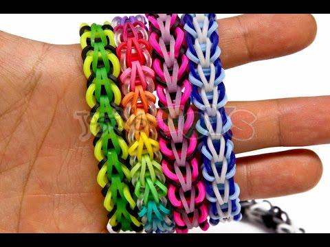 How to Make a Rainbow Loom Tribal Fishtail Bracelet - EASY