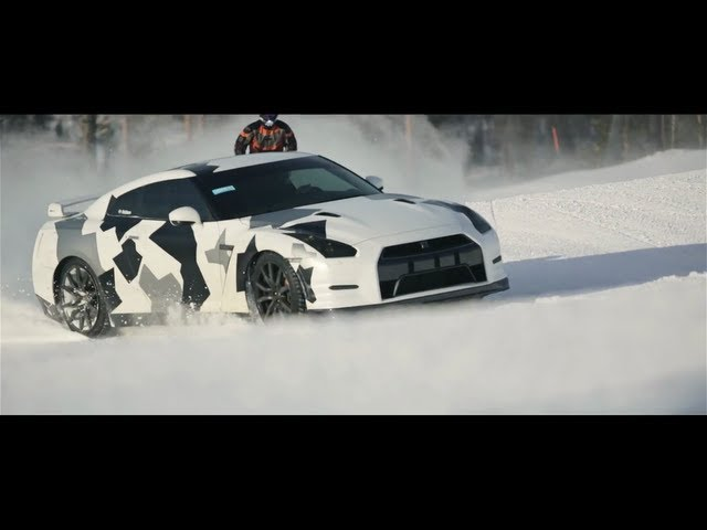 NISSAN GT-R Ski slope - YouTube