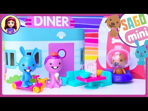 Sago Mini Harvey's Spaceship and Jack's Diner Portable Playsets Review Silly Play - Kids Toys