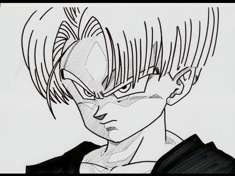 How To Draw Kid Trunks And Goten