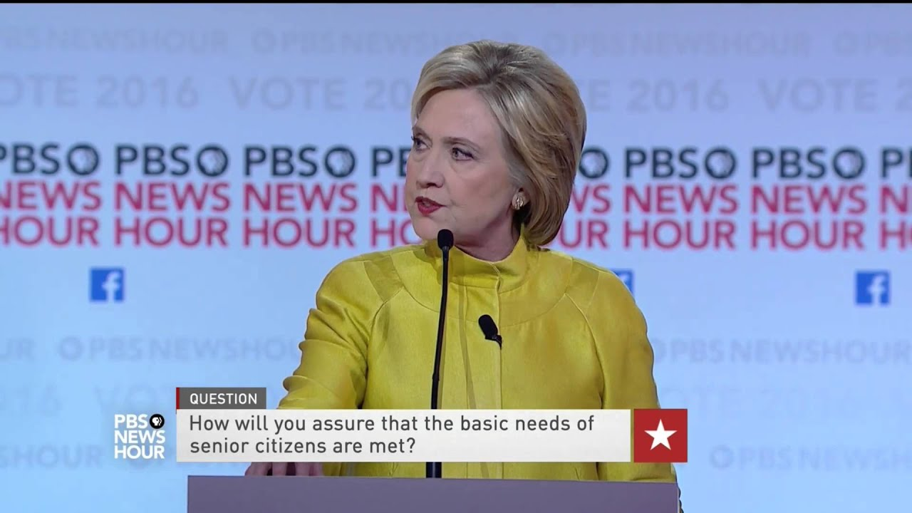 Sanders and Clinton  on expanding Social Security to meet seniors' needs