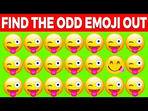 CAN YOU FIND THE ODD EMOJI OUT? QUIZ
