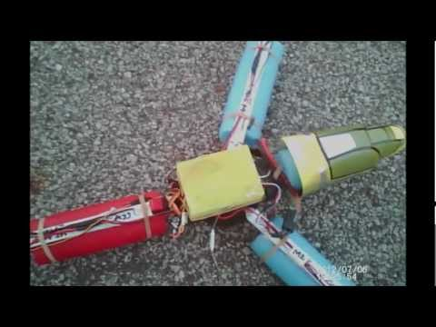 Tricopter homemade.by Deatharmor100 with HK i86 multirotor controller board.