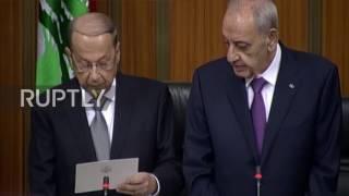 Lebanon: Michel Aoun elected as Lebanon's president, breaking two-year stalemate