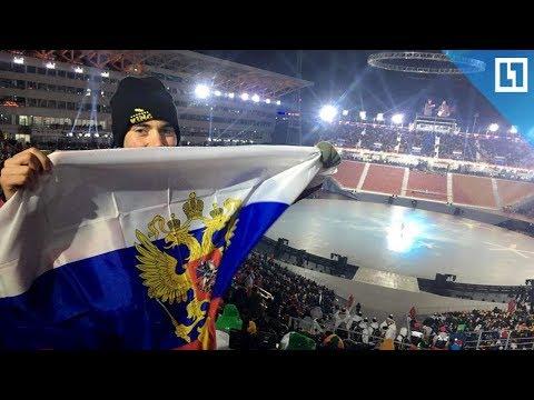 Американец с нашим флагом