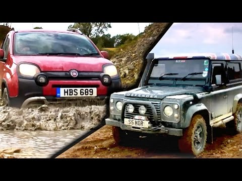 Can A Fiat Panda Cross Beat A Land Rover Defender? #TBT - Fifth Gear
