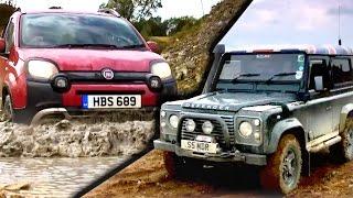 Can A Fiat Panda Cross Beat A Land Rover Defender? #TBT - Fifth Gear
