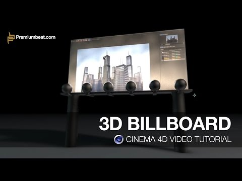 Cinema 4D Video Tutorial: 3D Billboard
