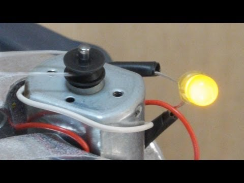 DIY Electric Motors as Generators.