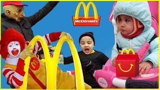 McDonald's Drive Thru in a Step 2 Play House with Motorized Cars