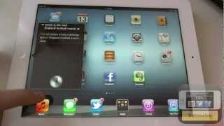 iOS 6 - Siri On The New iPad (Demo)