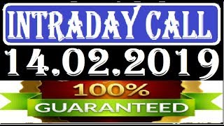 IntraDay Top 3 Jackpot Call 14.02.2019  || today stock || intraday || best stock for 2018