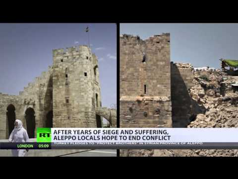 Horrors of war: Aleppo before and after Syrian conflict