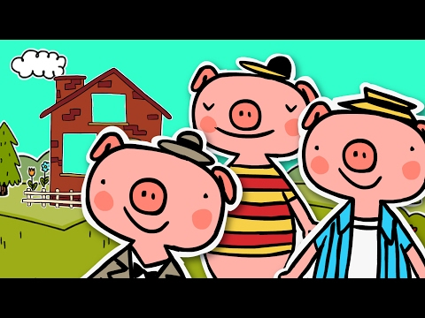 THE THREE LITTLE PIGS & The Big Bad Wolf | Fairy tale for kids | 3 Little Pigs Story