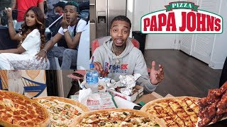 HOW I FEEL ABOUT MY EX GF GETTING BACK WITH DAEDAE PAPA JOHNS MUKBANG! (SHOULD I MOVE ON OR WAIT🤔?)