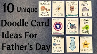 DIY Father's Day Pun Doodle Cards || Birthday Cards For Dad