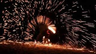STEEL WOOL FIRE POI - Sparkle Poi Spinning