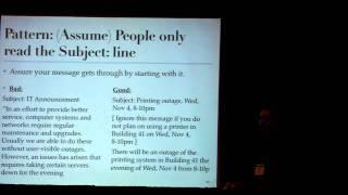 Tutorial: Design Patterns for Sysadmins, Part 4 (LISA 2009)