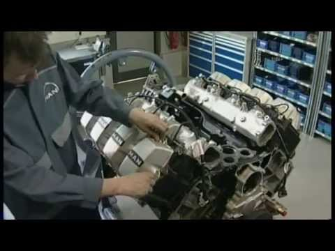Man TGX V8 Engine Production in Nuremberg