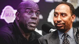 Magic Johnson AT ODDS With Stephen A. Smith Over Lonzo Ball!!!