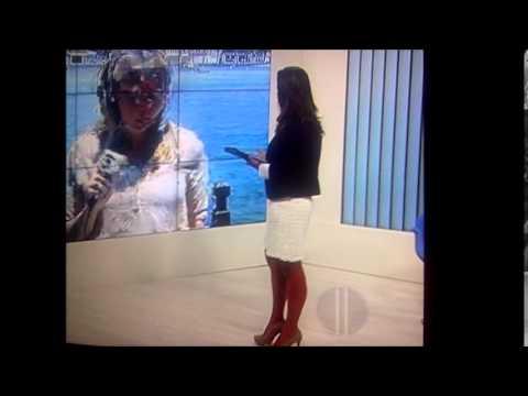 Reporter Ana Paula Mendes   Muito Gostosa De Saia video