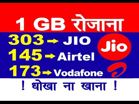 Very Very Important Jio News  Reliance Jio Prime Plan Against  Airtel  Vodafone Per Day 1 Gb 4G Data