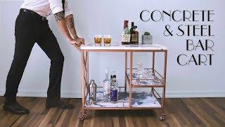 DIY Marble Concrete & Steel Bar Cart | GFRC | Modern