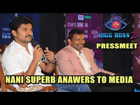Actor Nani Big Boss 2 Telugu Press conference | Big Boss Telugu Season 2 Press conference telugu
