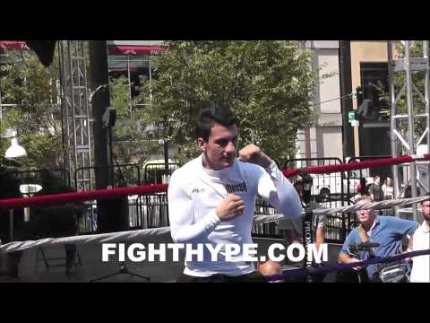 ROBERTO ORTIZ OPEN WORKOUT AHEAD OF LUCAS MATTHYSSE CLASH