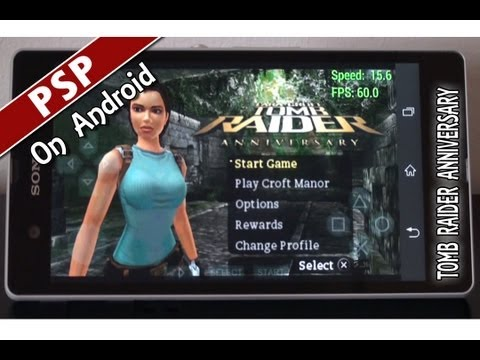 Tomb Raider Anniversary (PPSSPP v0.8.1-546) PSP Emulator on Android. Взлом игры RUA