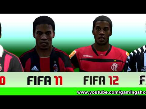 Ronaldinho From FIFA 04 to 13