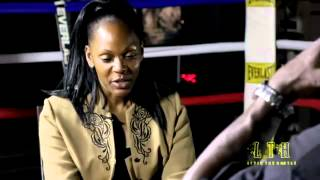 CARLA JA EXCLUSIVE INTERVIEW ON LOCATION AT ULTIMATE WARRIORS GYM WITH BOXER, DON MOUTON